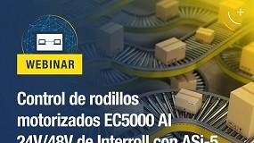 Foto de Bihl+Wiedemann presenta el webinar 'Control de rodillos motorizados EC5000 AI 24 V/48 V de Interroll con ASi-5'