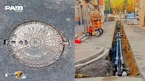 Foto de Registros de F.D. Pamrex en las obras de la red de calor de la ciudad de Vitoria