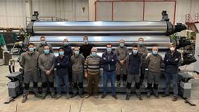 Foto de BG Plast, línea de extrusión completa para geomembrana de más de 8 m de ancho