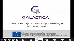 Foto de La AEI Tèxtils organizó el segundo webinar de Galactica