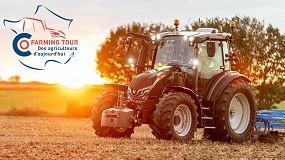 Foto de Valtra apoya el CoFarming Tour de Francia en tractor