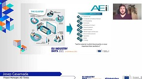 Foto de La AEI Tèxtils compartió su experiencia de colaboración en los EU Industry Days 2021