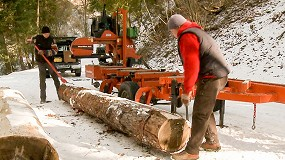 Foto de Un aserradero portátil ayuda a ahorrar dinero en el transporte de troncos