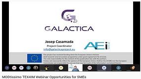 Foto de La AEI Tèxtils presenta Galactica en el webinar de TEX4IM