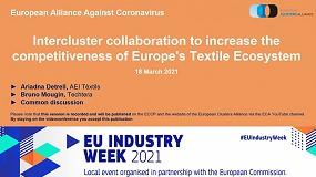 Foto de AEI Tèxtils participa en un webinar sobre colaboración y competitividad en Europa
