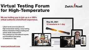 Foto de ZwickRoell celebra el Forum Virtual de Ensayos a Alta Temperatura el 5 de mayo