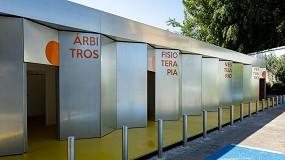 Foto de Nuevo edificio de construcción industrializada para los vestuarios de la U.D. San José de Zaragoza