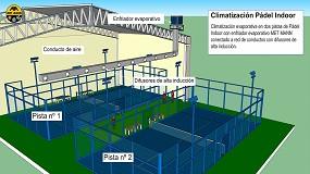 Foto de Climatización evaporativa de pistas de pádel y recintos deportivos