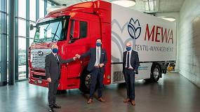 Foto de Mewa utiliza un camión de hidrógeno para distribuir sus productos en Suiza