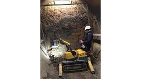 Foto de Instalación de tubos por hinca con Brokk 70 en terrenos imposibles