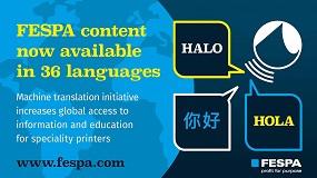 Foto de El contenido de la web de Fespa, ahora disponible en 36 idiomas