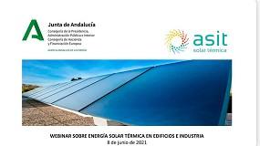 Foto de Asit organiza un nuevo webinar sobre energía solar térmica en edificios e industria