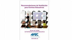 Foto de Afec elabora un documento con recomendaciones de ventilación para centros educativos