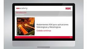 Foto de El módulo de formación online para colada continua ya está disponible en la NSK Academy