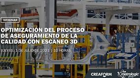 Foto de Creaform y Metrologic organizan un webinar sobre 'Optimización del proceso de aseguramiento de la calidad con escaneo 3D'