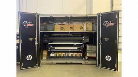 Foto de PROmotor instala una HP Latex 570 para la señalética de los circuitos de MotoGP