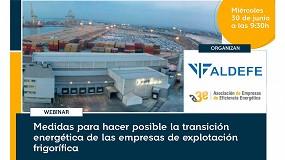 Foto de Webinar A3E-Aldefe para facilitar la transición energética a las empresas del frío