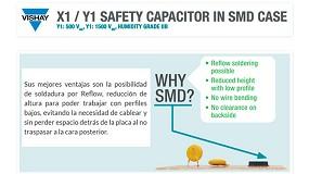 Foto de Vishay presenta su nueva familia de condensadores de seguridad X1/Y1 en formato SMD