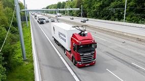 Foto de Estudian la recarga de vehículos eléctricos en autopista por catenaria