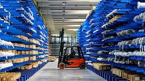 Foto de Estanterías cantiléver para cargas pesadas en Mundinger Transport
