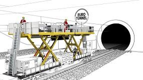 Foto de Palfinger desarrolla una plataforma a medida para las labores de mantenimiento del Eurotunnel
