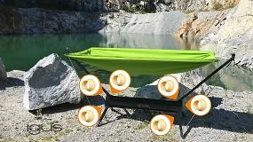 Foto de Despliéguela y relájese: hamaca portátil con soporte, sin necesidad de lubricación