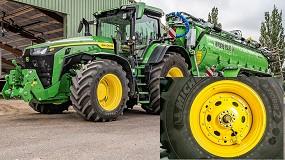 Foto de John Deere integra un sistema de control de presión de neumáticos en los tractores 8R