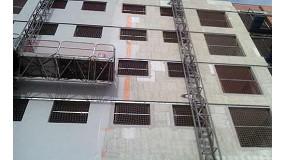 Fotografia de Etics amb Llana Mineral de Knauf Insulation en habitatges de Getafe