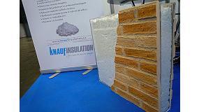 Fotografia de Knauf Insulation va presentar un nou aïllant en Novabuild
