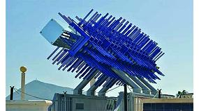 Picture of ATEG Exhibits in Construtec a colossal sculpture in steel galvanised