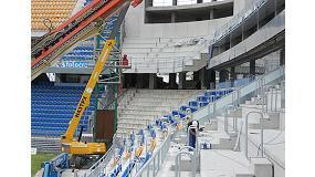 Fotografia de Daplast instal�la els nous seients de l'Estadi Ram�n de Carranza