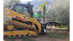 Fotografia de Demostracions de vibradors d'oliveres amb m�quines Caterpillar