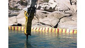 Foto de Martillo HB 4100 de Atlas Copco para trabajos de demolici�n subacu�tica en Italia