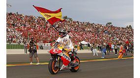 Foto de Repsol con Marc M�rquez, campe�n del mundo de MotoGP