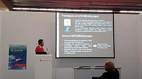 Foto de Aimme presenta los resultados del proyecto Aerobeam en Airtec 2013
