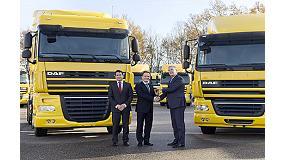 Foto de 600 nuevas tractoras DAF para la empresa Waberer�s