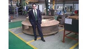 Picture of Interview to Carlos Pecino, attach to national sales of Pumps Caprari