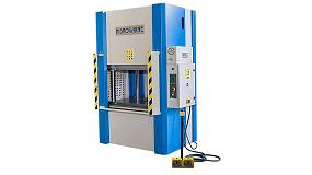 Picture of Hidrogarne Presents the new hydraulics presses MV-80 in the BIEMH 2014