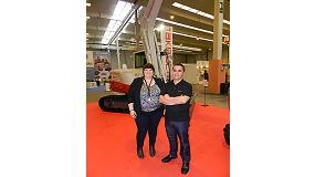 Foto de Entrevista a Tanja Kainz y Hamid Aachab, responsables de Huppenkothen Baumaschinen para Espa�a