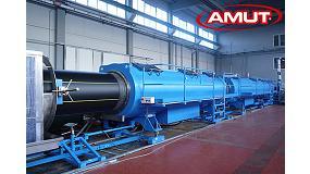 Foto de Amut, fabricante italiano de líneas de extrusión para tubos