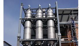 Foto de Zean process engineering muestra en Expoquimia 2014 las ventajas de los evaporadores de película fina