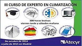 Foto de El 3 de octubre dará comienzo el III Curso de Experto en Climatización de Atecyr