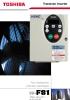 Convertidor de frecuencia Toshiba para ventiladores y bombas centrífugas