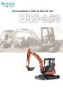 Miniexcavadora 3590 kg KUBOTA U35-3a3 giro ultracorto