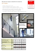 Escalera de tijera extensible de aluminio de 4 tramos