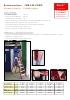 Escalera de tijera de fibra de vidrio, acceso bilateral, peldaño plano