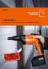 Atornilladoras para tornillo autotaladrante con acumulador FEIN ASCS 6.3 y ASCS 4.8_Reformas