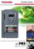 Convertidor de frecuencia para aplicaciones industriales Toshiba VF-PS1