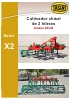Cultivadores chisel de 2 hileras Tasias Serie X2. Brazos 40 x 40