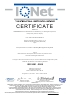 Certificado EN 9001: 2008 The International certification Network
